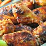 BEST Crispy Baked Buffalo Wings ~ easy, no-fail recipe for crispy oven-fried spicy buffalo ranch chicken wings. Use Frank's Buffalo or your favorite.